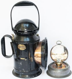 GWR Pre Group 15689 GWR pre grouping 3 Aspect Handlamp with matching body, drum and reservoir, all