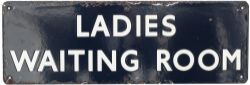 BR(E) Ladies Waiting Room BR(E) enamel doorplate LADIES WAITING ROOM measuring 18in x 6in. In good