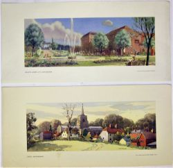 2 Unframed carriage prints. WELWYN GARDEN CITY by Stringer together with ANSTEY HERTS by Russell.