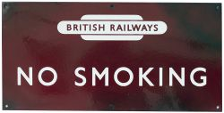 BR(M) enamel Sign. NO SMOKING with British railways Totem. Excellent condition.