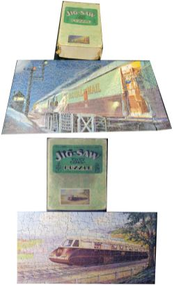 GWR Jigsaws. NIGHT MAIL together with THE STREAMLINE WAY both complete with original boxes.