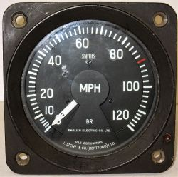 BR Locomotive Speedometer recovered from class 37 D6874. Constructed at the Vulcan Foundry in 1962.