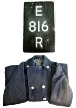 A Lot containing a BR Overcoat complete with buttons and double arrow insignia together with an