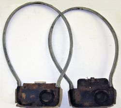 2 x Tyers Signal Box Token pouches in well used condition.