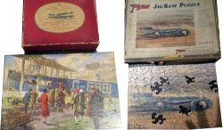 2 x Advertising Jigsaws. IMPERIAL AIRWAYS complete with original box together with BLUE BIRD MALCOLM