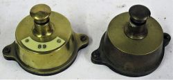 2 x GWR Brass Signal Box Shelf Plungers. One with ivorine plate 89. Both excellent condition.
