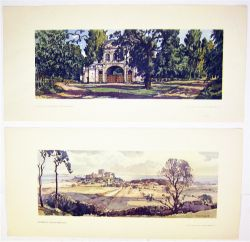 2 x Unframed carriage prints. TEMPLE BAR CHESHNUT HERTFORDSHIRE together with BAMBURGH