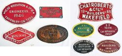 9 x Cast Iron Wagon Plates to include. HEAD WRIGHTSON & Co ENGINEERS 1946. R Y PICKERING & CO