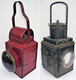 Midland Railway Tail Lamp. Plated MIDLAND RAILWAY PETROLEUM LAMP complete with interior in excellent