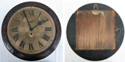 LMS spring driven clock No 16816 minus bezel with movement present but not working.