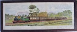 Framed and glazed print produced as a supplement to The Railway Magazine. GREAT WESTERN CORNISHMAN