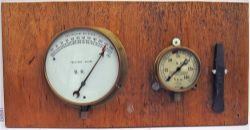 Two Pressure Gauges. BR 0 - 250 PSI and SR 0 - 150 PSI together with a GCR stamped metal chisel