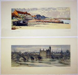 2 x Unframed carriage prints. OVERY STAITHE NORFOLK by Ancathus together with WAKEFIELD CHANTRY by