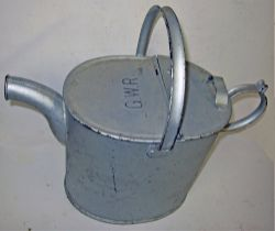 GWR Galvanised Station watering can embossed GWR in good original condition. Not often seen.