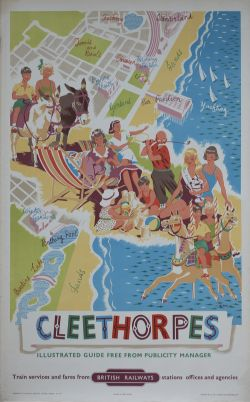 Poster BR(E) CLEETHORPES by D. Blake. Double Royal 25in x 40in. In very good condition with a few