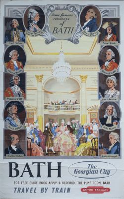 Poster BR(W) BATH THE GEORGIAN CITY by Gordon Nicoll. Double Royal 25in x 40in. In good condition,