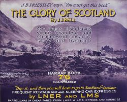 Poster LNER/LMS THE GLORY OF SCOTLAND ADVERTISING A BOOK by J.J. Bell. Quad Royal 50in x 40in. In