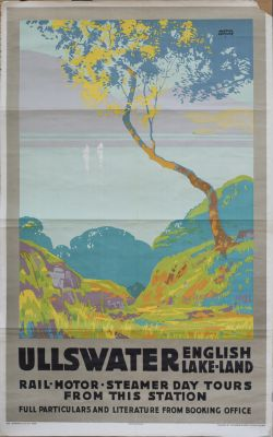 Poster LNER ULLSWATER ENGLISH LAKELAND by Austin Cooper. Double Royal 25in x 40in. In good condition