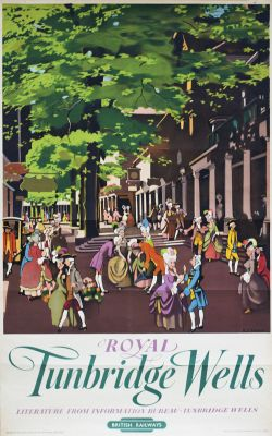 Poster BR(S) ROYAL TUNBRIDGE WELLS by B.J. Dawson. Double Royal 25in x 40in. In very good condition,