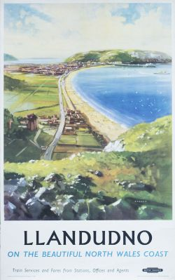 Poster BR(M) LLANDUDNO by Bagley. Double Royal 25in x 40in. In very good condition.