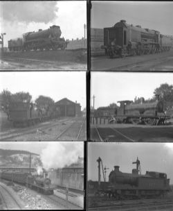60 large and medium format glass/non-glass negatives. Taken in 1927 includes SR, SECR and LSWR at