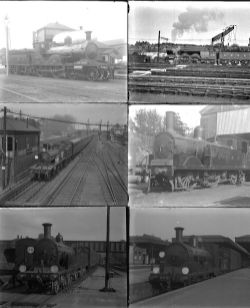 50 large format glass/non-glass negatives. Taken in 1925 includes SR, LSWR and GER at Clapham