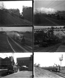 41 mostly large format glass negatives. Taken in 1927 includes SR, LBSCR: Eastbourne, Brighton,