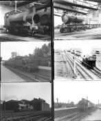 Approximately 35 large format glass and celluloid negatives. Taken in 1926 includes: many GWR at