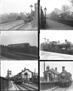 20 large format glass negatives. Taken in 1928/29 includes mostly GWR and some SR and LSWR: Reading,