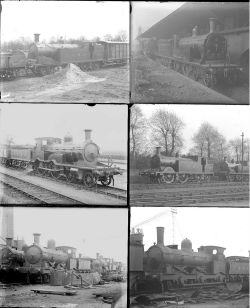 50 almost all large format glass negatives. Includes LSWR taken in 1923 at Nine Elms, Eastleigh