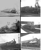 Approximately 41 large format glass negatives. Taken in 1930 includes Irish Railways CDRJC, CNR(