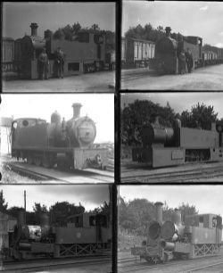 9 large format glass negatives. Taken in 1930 includes Irish: Castlederg & Victoria Bridge Tramway.