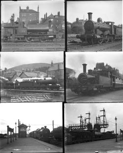 32 large format glass negatives. Taken in 1930 includes LMS: Perth, Dundee, Campletown, Fort William