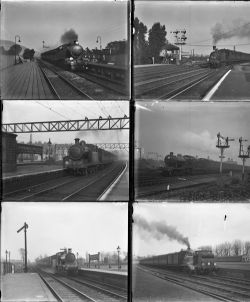34 large format glass negatives. Taken in 1926/27 includes SECR, SR, LBSCR: Battersea, Reading,