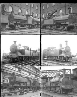 27 large format glass negatives. Taken in 1931 includes LMS: Crewe, Stoke and a few in Scotland.
