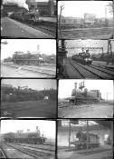 Approximately 90 large format non-glass negatives. Mainly LB&SCR and LSWR, taken in 1920.