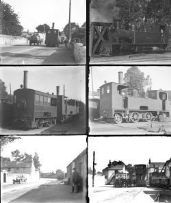 10 large format glass negatives. Taken in 1929 includes Irish: Dublin & Blessington Railway (qty 8)
