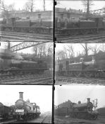 Approximately 50 large format glass negatives. A mix of LSWR and LBSCR taken in 1922. Negative
