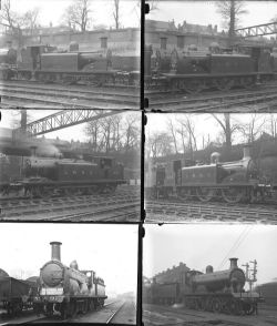 50 large format glass negatives. A mix of LSWR and LBSCR taken in 1922. Negative numbers within