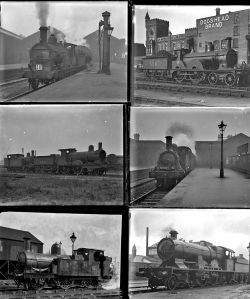 50 mostly large format glass negatives. Taken in 1926/27 includes a mix of MR, GNR, LMS and GWR: