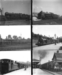33 large format glass negatives. Taken in 1930 includes SR: Nine Elms, Swanage, Gillingham Tunbridge