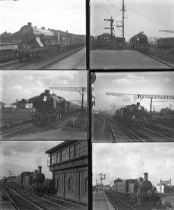 34 large format glass negatives. Taken in 1930/31 includes SR: Clapham Junction, Nine Elms,