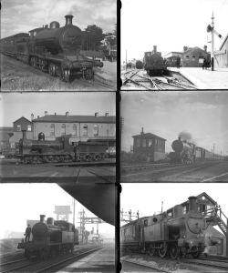 42 mostly large format glass negatives. Taken in 1929 includes Irish: GSR, MGWR, GNR(I) and DN&GR.