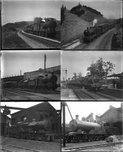 34 large format glass negatives. Taken in 1929 includes SDJR, LMS with a couple of GWR: mostly at