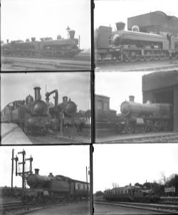 17 large format glass negatives. Taken in 1929/30 includes GWR: Didcot, Slough, Oxford and