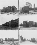 Quantity 7 large format glass negatives. Taken in 1929 includes LNER: Wisbech & Upwell Tramway.