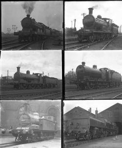 26 large format glass negatives. Taken in 1927 includes Scotland LMS, LNER: Ferryhill, Aberdeen,