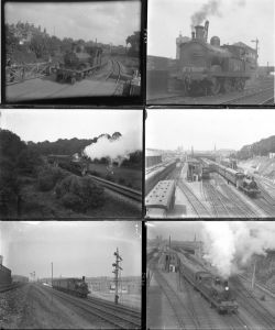 50 large format glass/non-glass negatives. Taken in 1924 includes LSWR, SECR and GWR at Nine Elms,