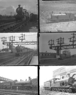 50 large format glass/non-glass negatives. Taken in 1925/26 includes LBSCR, LSWR and SR at