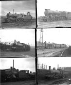 Approximately 35 large format glass negatives. Taken in 1929 includes LMS: Crewe and Derby. Negative